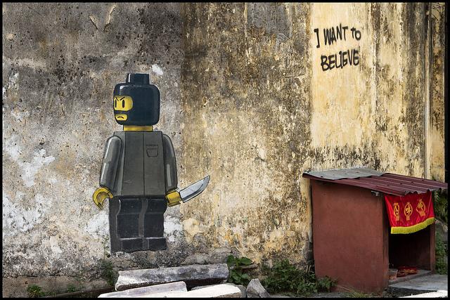 I want to believe Lego Street Art